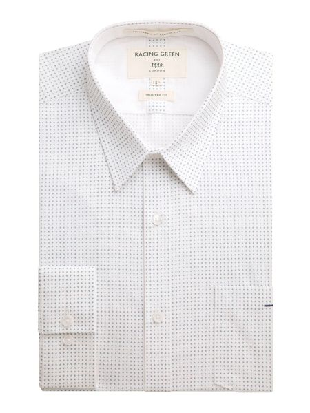 Racing Green Kennedy all over print formal shirt