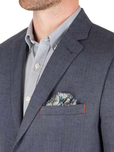 Racing Green Fred herringbone blazer