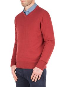 Racing Green Bancroft v-neck cotton knit