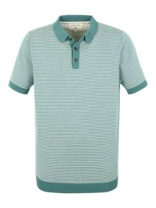Cooper knitted short sleeve polo