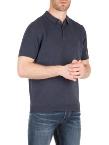 Racing Green Cooper knitted short sleeve polo