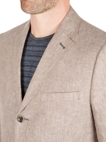 Racing Green Farley linen blazer