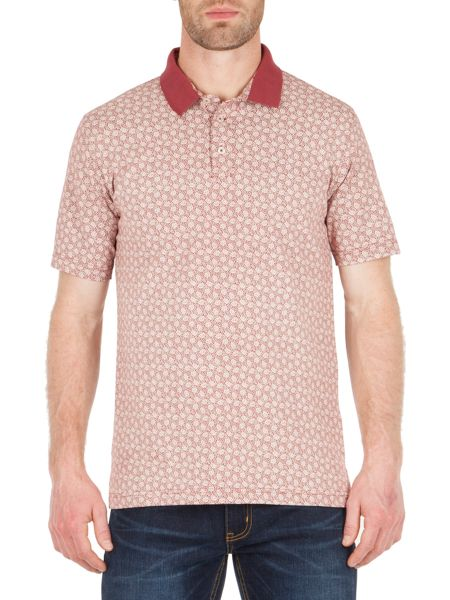 Racing Green Native Paisley Print Polo