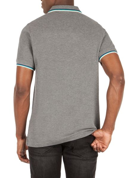 Racing Green Clement Tipped Pique Polo