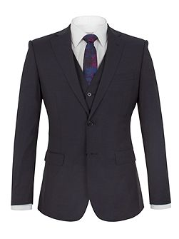 Markham navy panama tailored fit jacket