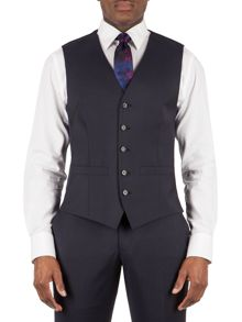 Alexandre of England Markham navy panama tailored waistcoat