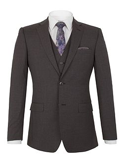 Markham charcoal panama tailored jacket