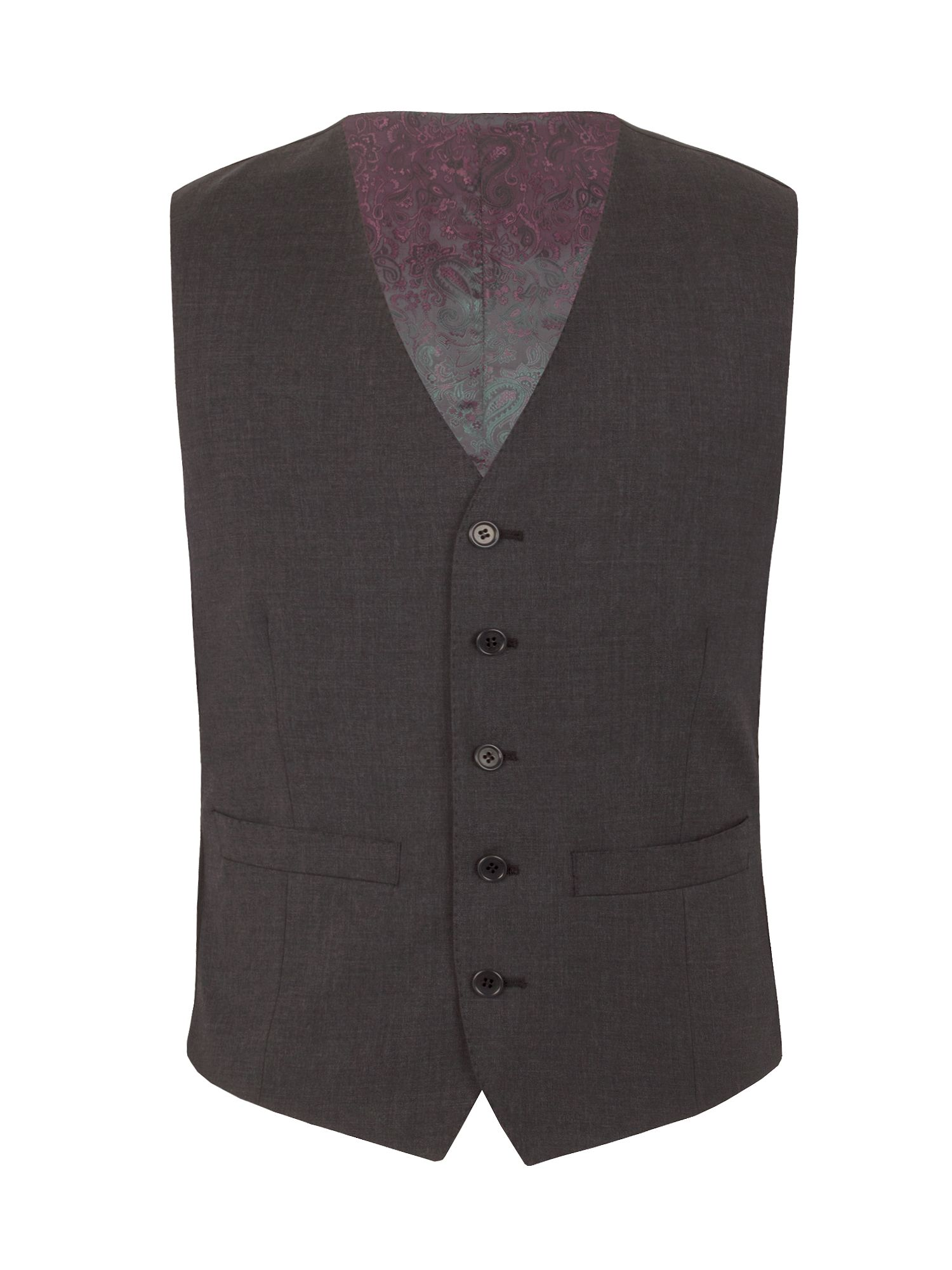 Mens Alexandre of England Markham charcoal tailored waistcoat Charcoal