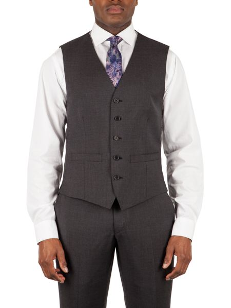 Alexandre of England Markham charcoal tailored waistcoat
