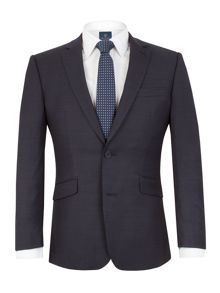 Healy navy pindot suit