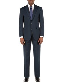 Burnlee teal plain weave suit