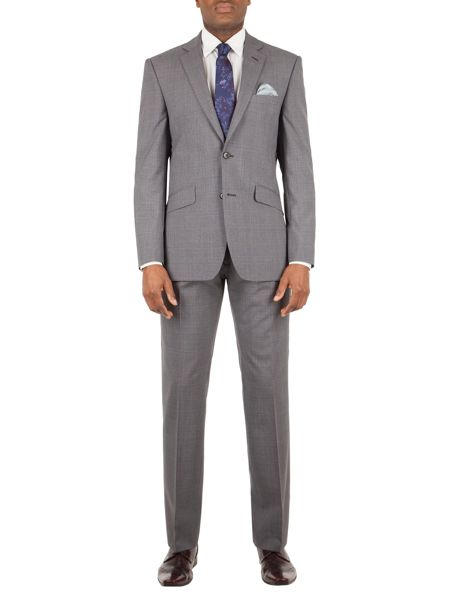 Alexandre of England Hackney check tailored fit trouser