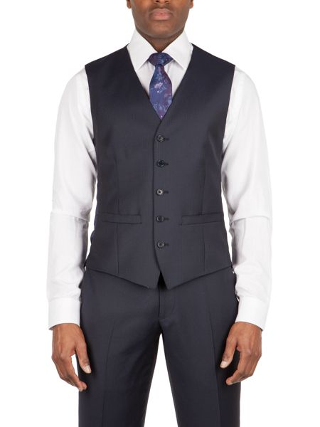 Alexandre of England Bedford stripe tailored waistcoat