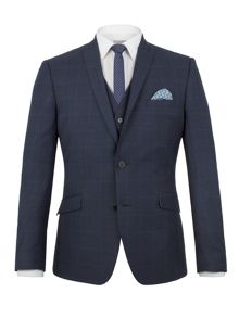 Limehaus Wilson tonal check slim fit jacket