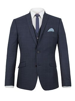 Wilson tonal check slim fit jacket