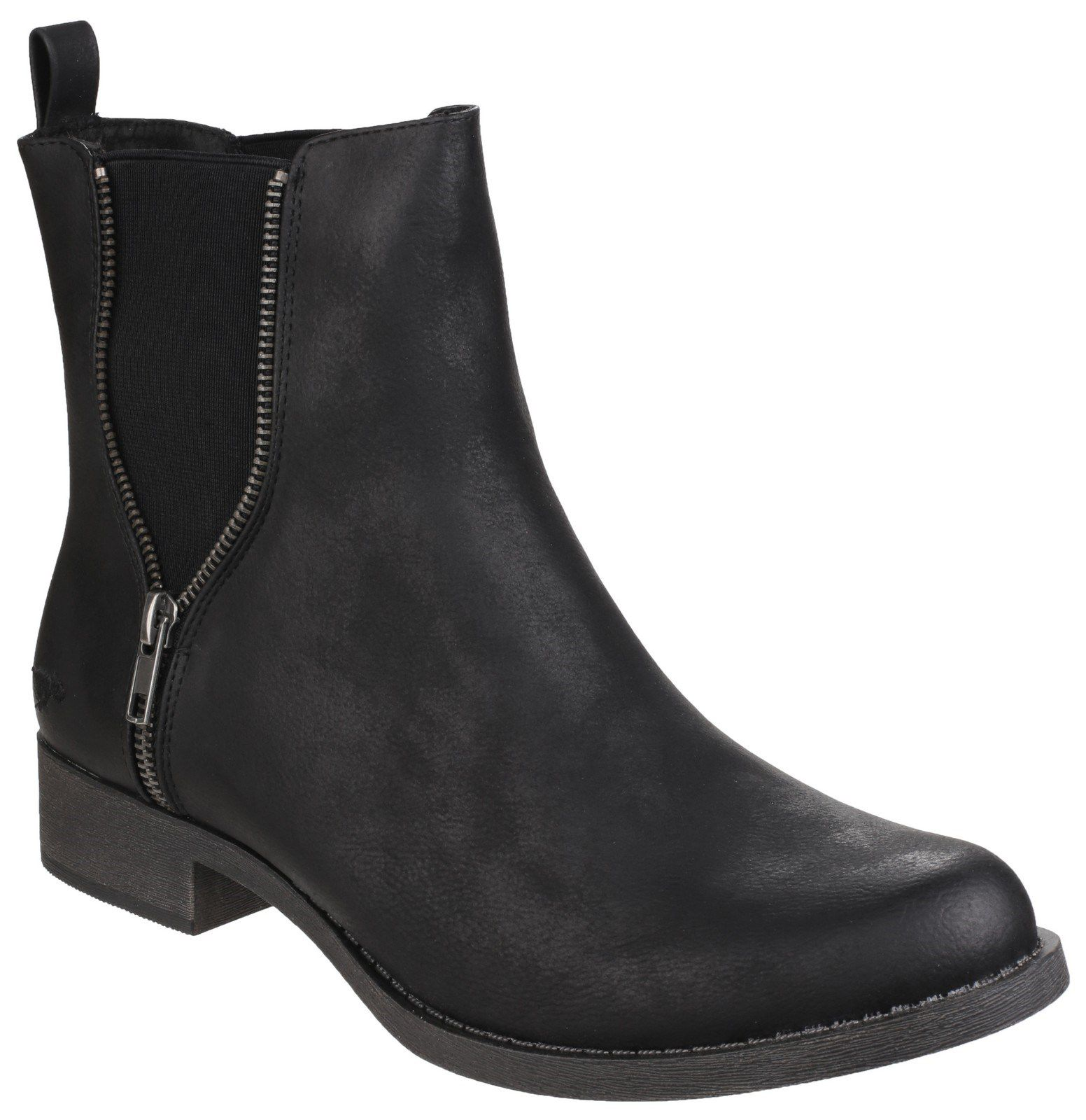 Rocket Dog Camilla gusset ankle boots Black