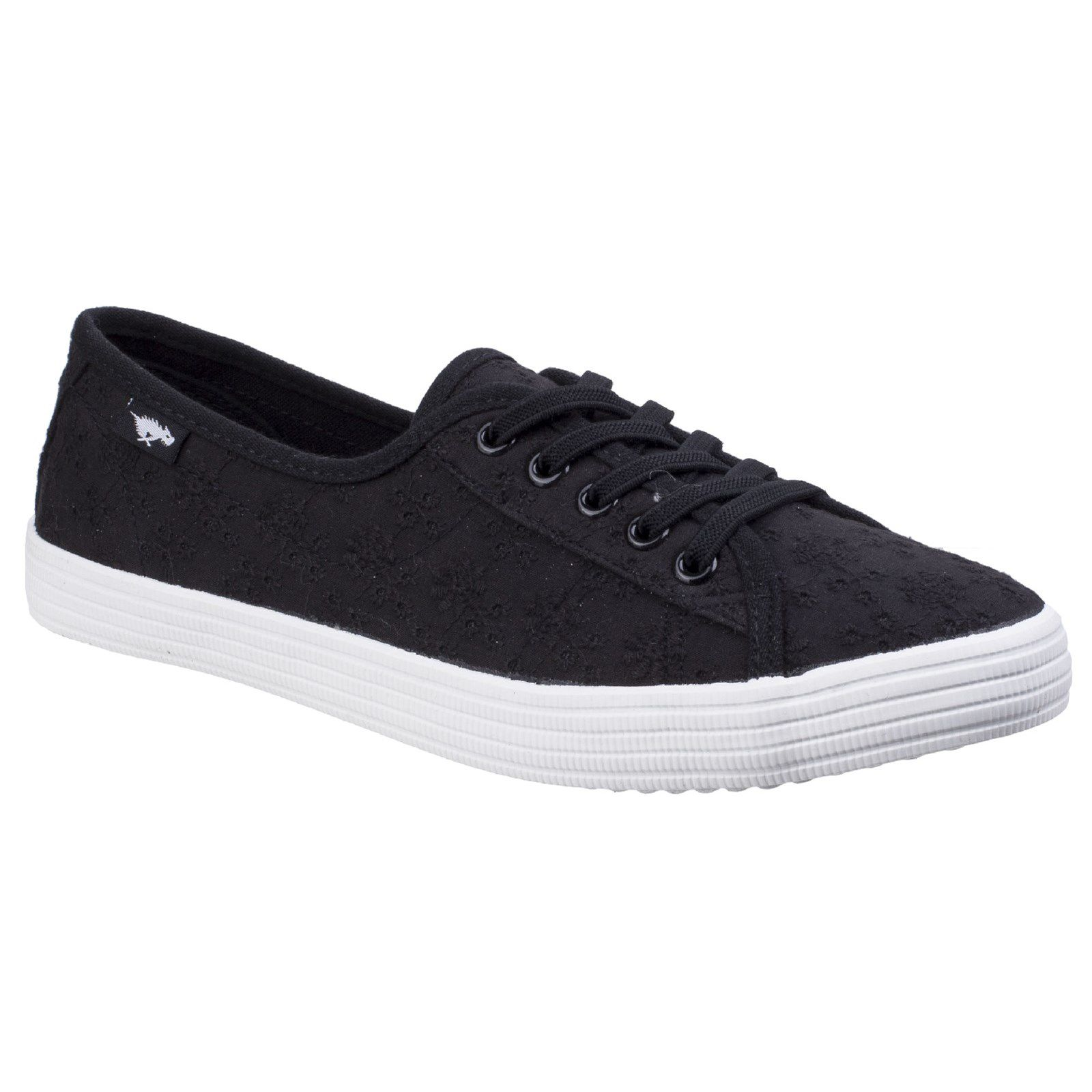 Rocket Dog Chow Chow Lucky Eyelet Lace-Up Trainer, Black