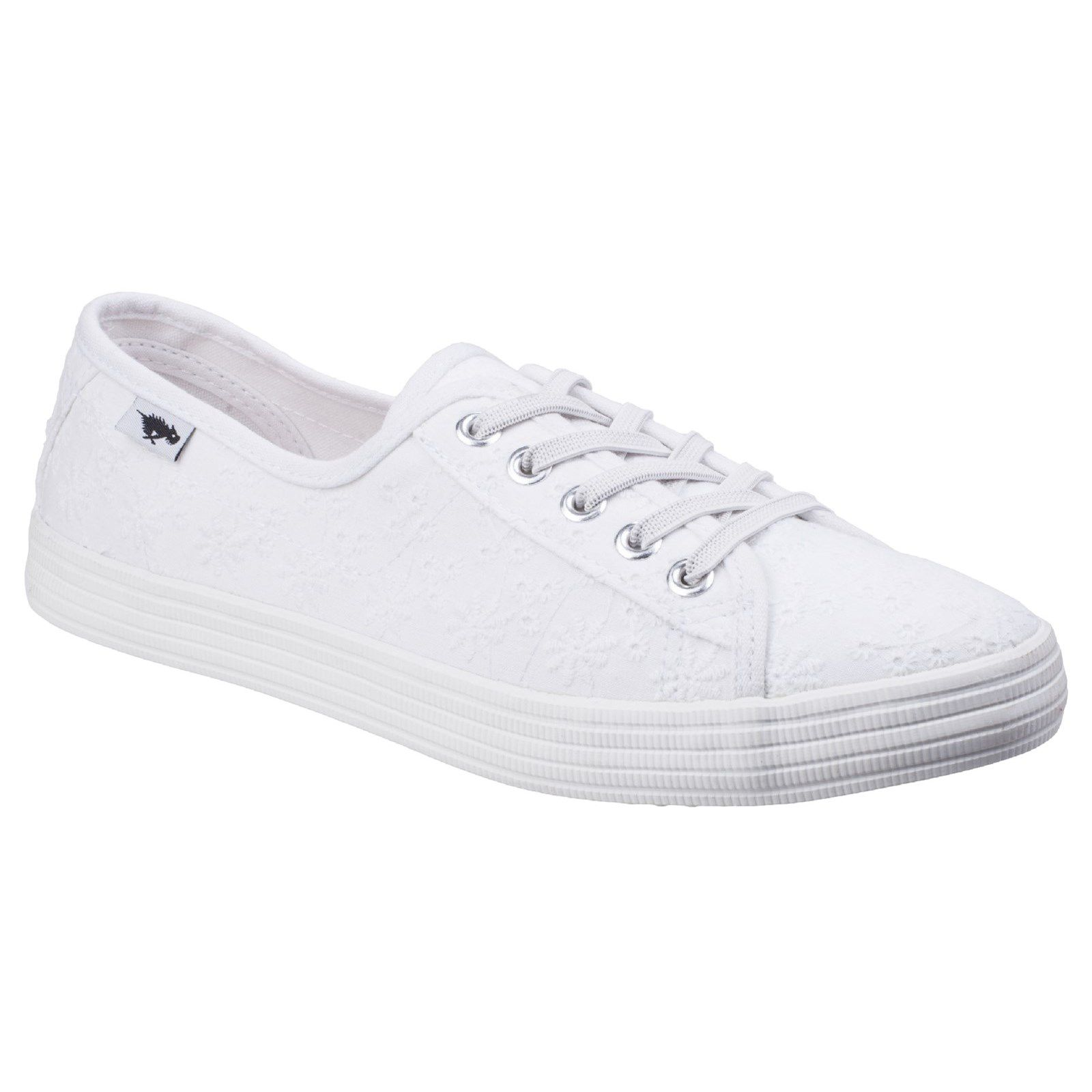 Rocket Dog Chow Chow Lucky Eyelet Lace-Up Trainer, White