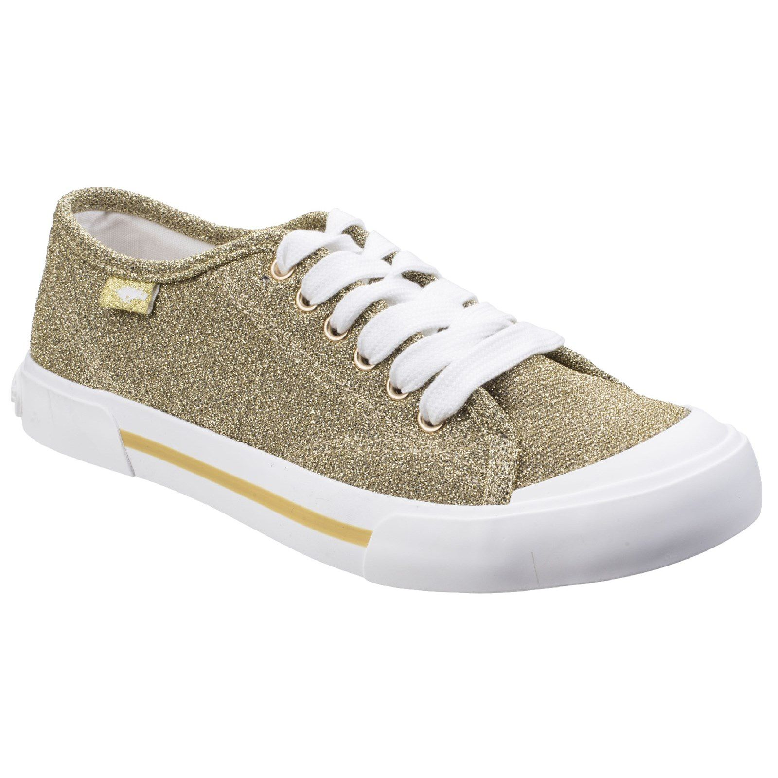 Rocket Dog Jumpin Disco Lace-Up Trainer, Gold