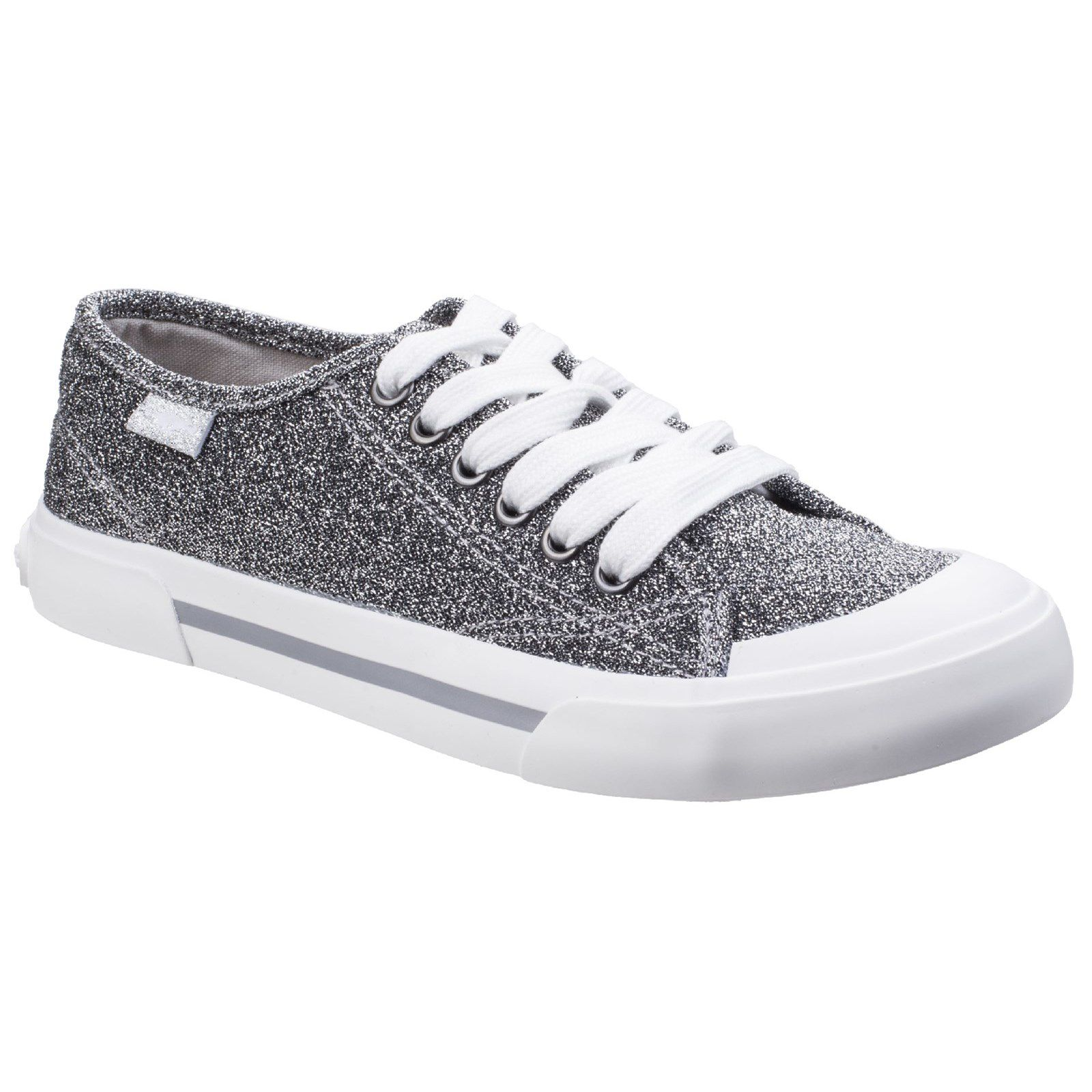 Rocket Dog Jumpin Disco Lace-Up Trainer, Silver