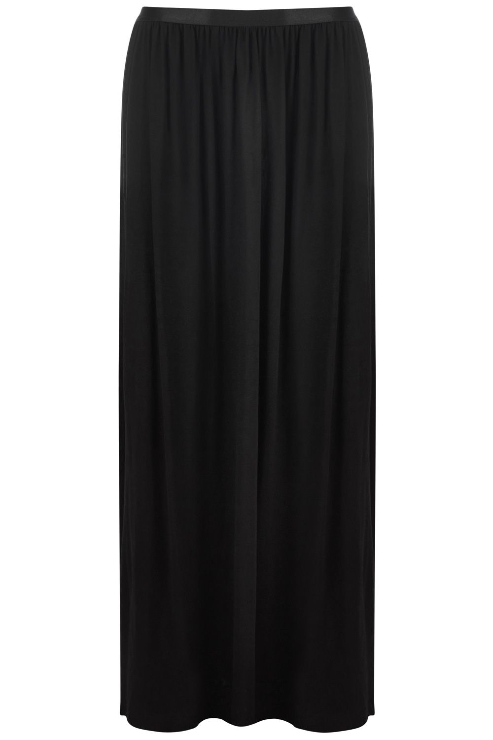 Satin elastic maxi skirt