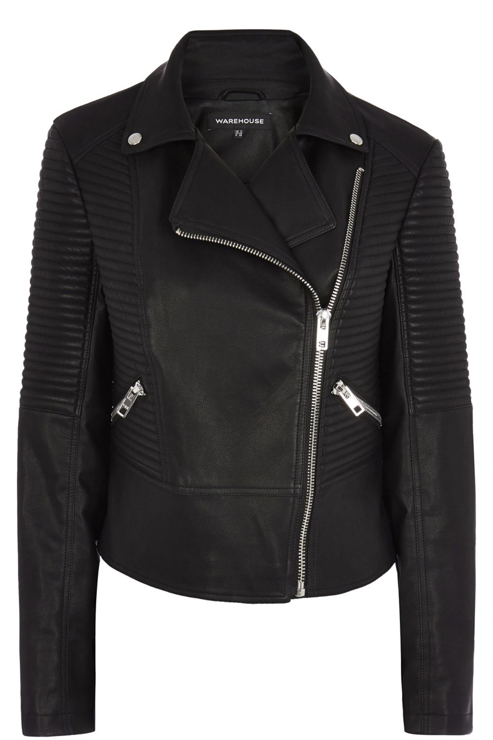 Rib Sleeve Biker Jacket