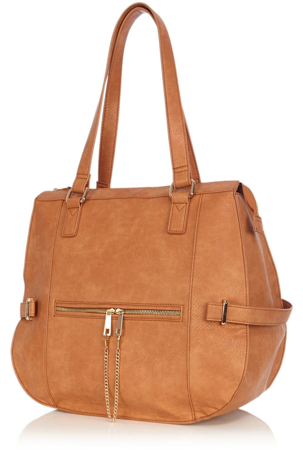 Chain zip slouchy shopper