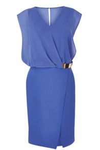 Wrap belted dress