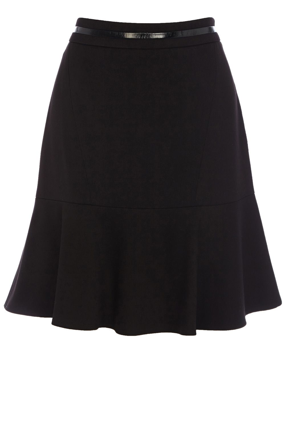 PU waistband flippy skirt