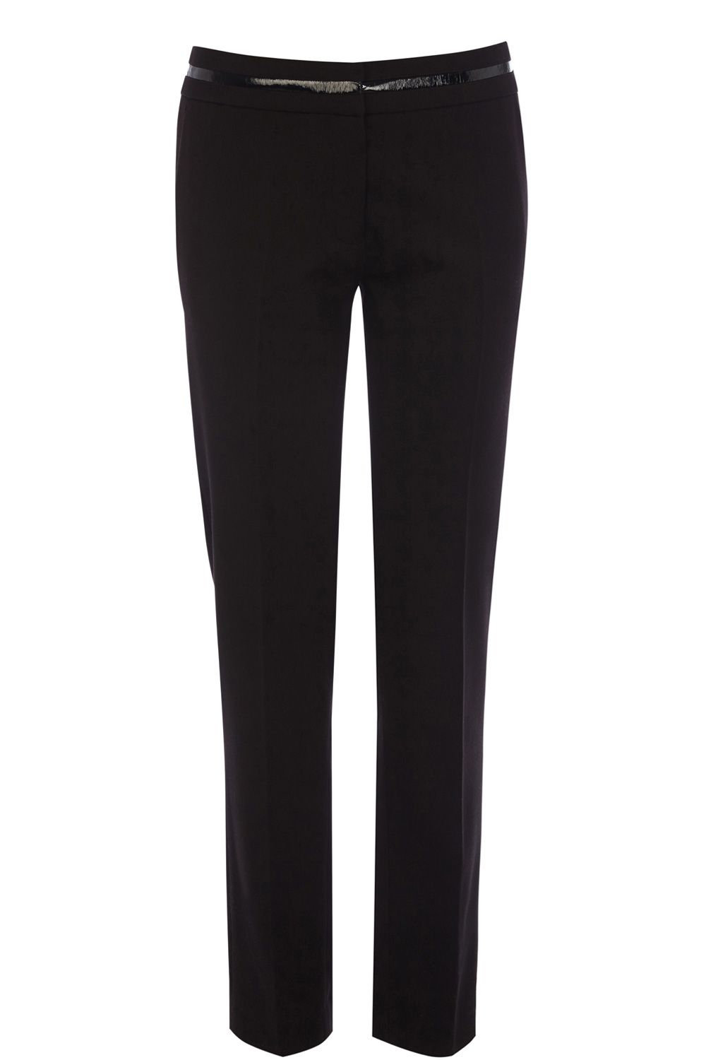 PU waistband trousers