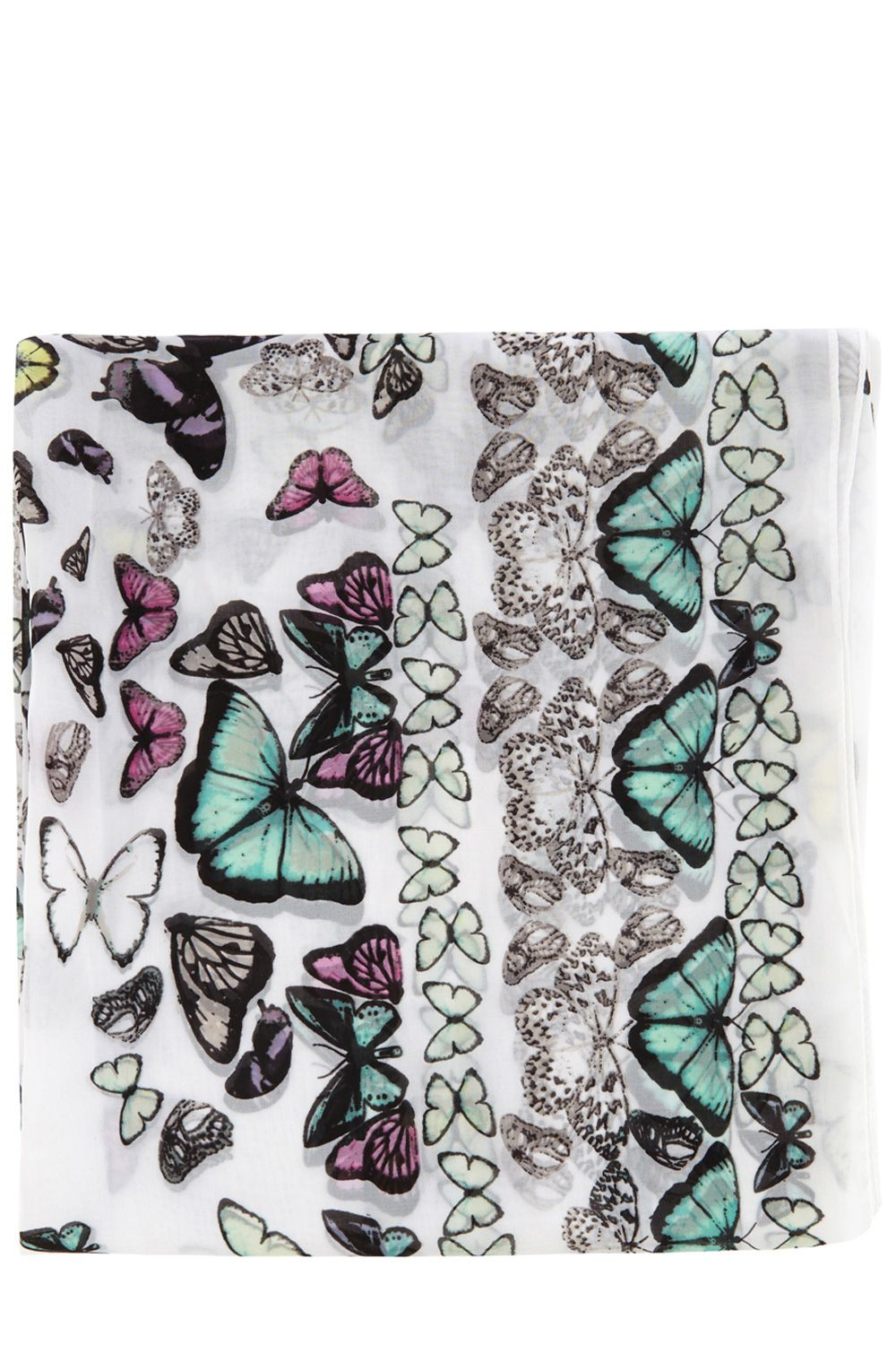 Butterfly square scarf