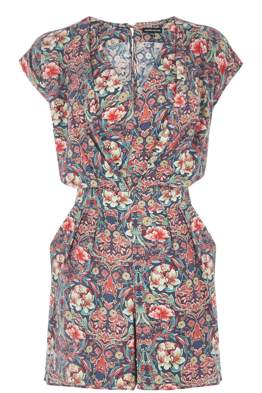 Bright floral playsuit