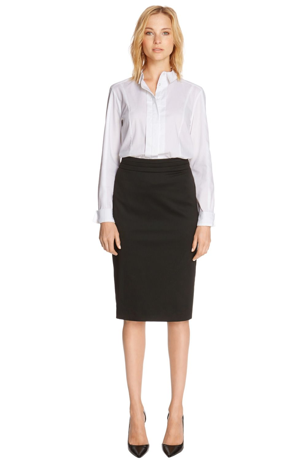 Split waistband ww skirt