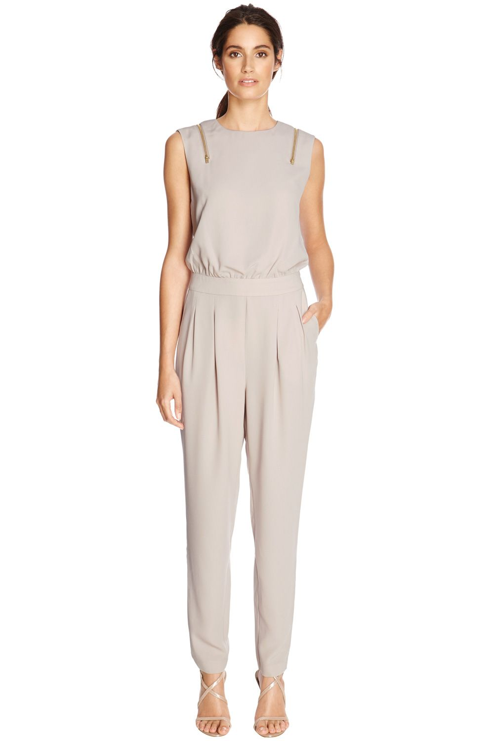 Zip shoulder jumpsuit