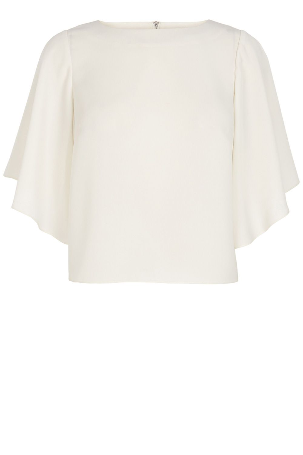 Fluted sleeve cropped T-shirt