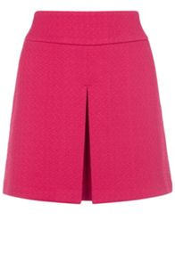 Formed Jacquard Pleat Front Skirt