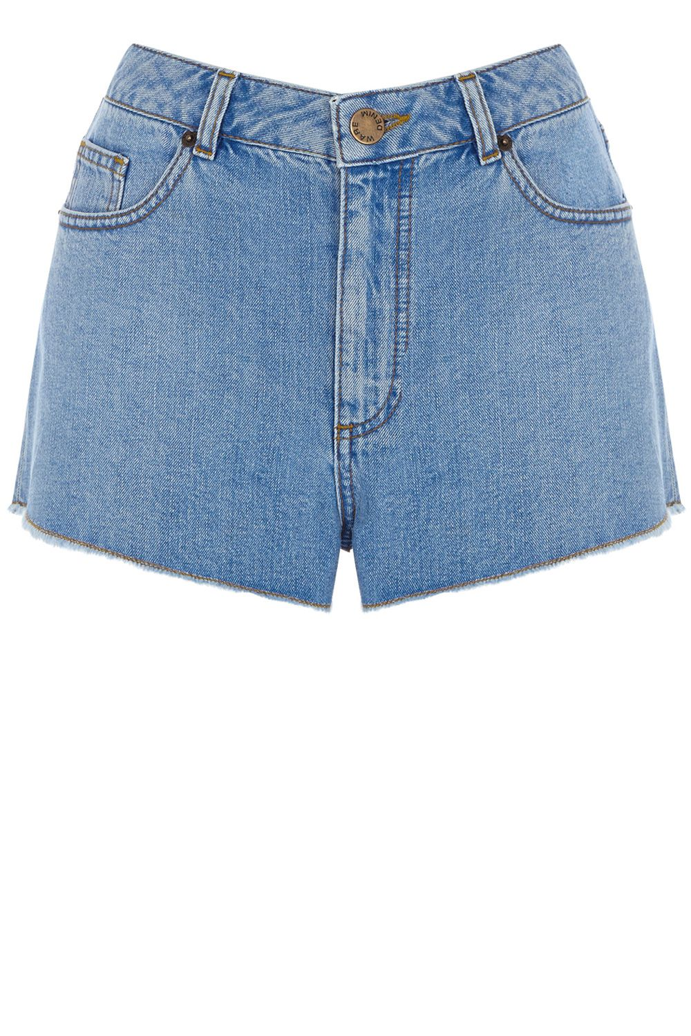 Frayed high waist short