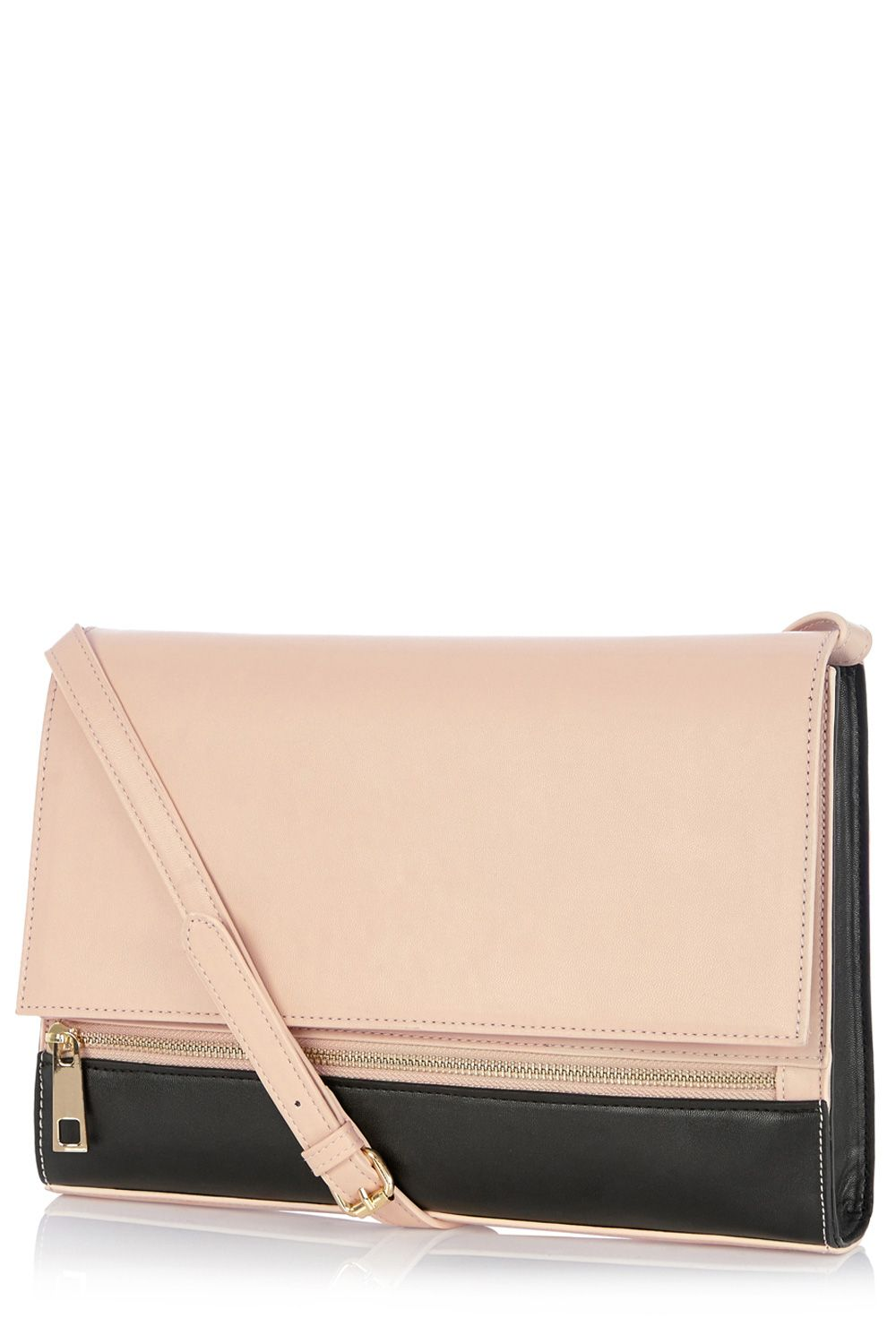 Front Zip Cross Body Clutch Bag