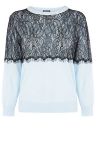 Lace Overlay Jumper