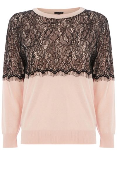 Warehouse Lace Overlay Jumper