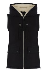 Ribbon detail gilet
