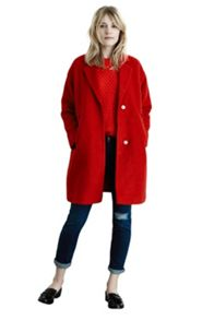 Boucle Wool Mix Coat