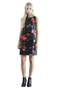 Poppy Print Layered Dress