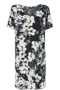 New shadow floral slinky dress
