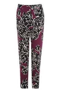 Graphic Rose Print Trousers