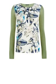 Feather Woven Front Jumper