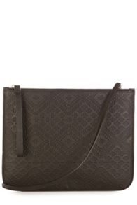 Leather embossed clutch