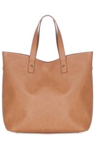 Raw edged shopper bag