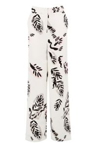 abstract leaf wide leg trouser