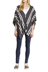 Stripe Button Detail Cape